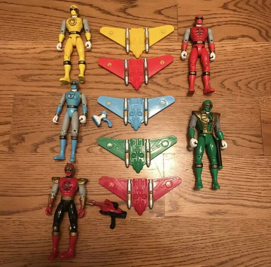 Power Rangers NINJA STORM Wind Ninja Flash Figures gliders set