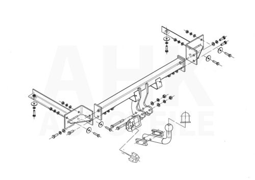 Für Opel Corsa D 3//5-Tür Schrägheck 06-14 Kpl Anhängerkupplung starr+E-Satz 13p