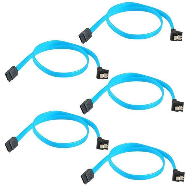 """5Qty 18"""" SATA 3.0 Cable SATA3 III 6GB/s Right Angle 90-Degree For HDD Hard Drive"""