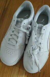ganancia Pirata casual  Puma Carina L Mujer Zapatos-Talla 8-Us Blanco Plata 370325 02 Tenis De Moda  | eBay