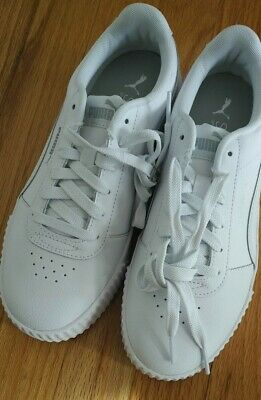 Puma Carina L Womens Shoes - Size 7 - US White Silver 370325 02 Fashion  Sneakers | eBay