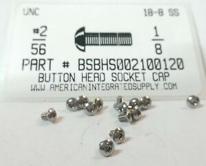 2-56x1-8-Button-Head-050-034-Hex-Socket-Cap-Screws-18-8-Stainless-Steel-50