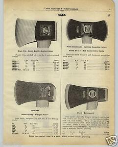 1930 Paper Ad Plumb Axe Double Bit Dreadnaught California Pattern
