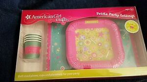 American Girl Paper Crafts Doll Size Plates Cups Placemats Petite Party Settings