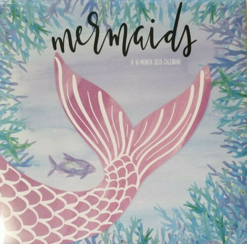 """Mermaids 2020 Wall Calendar 16 Months 12/"""" X 24/"""" by Double Time"""