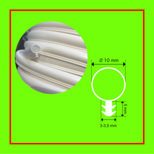 Tube en silicone joint Fensterdichtung10 mm Tête ø 3mm Ecrou