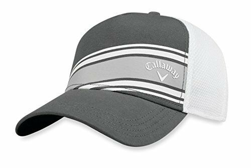 b9f408274bf8a Callaway Golf 2018 Stripe Mesh Adjustable Hat Charcoal  White for sale  online