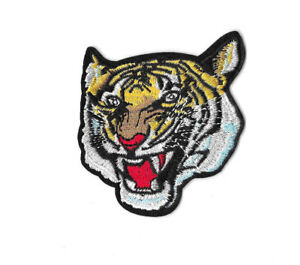 ROARING-TIGER-Iron-on-Sew-on-Patch-Embroidered-Badge-Motif-Animal-Cat-PT320