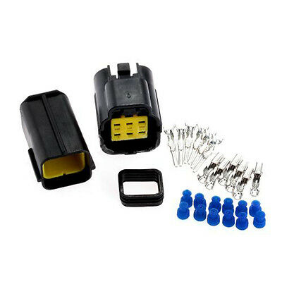 Sealed Electrical 1 Kits 6 Pin Way Waterproof Wire Connector Plug Set Car