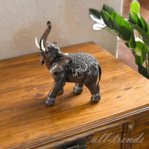 Deko Figur indischer Elefant Tierfigur Figur Skulptur Statue Asia-Look 26cm NEU