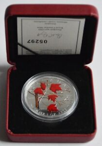 Kanada-5-Dollars-2004-Maple-Leaf-Herbst-Koloriert-1-Oz-Silber