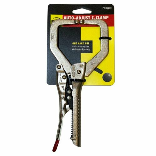 """NEW AUTOMATIC LOCKING VICE GRIP PLIERS 7/"""" C-CLAMP AUTO C CLAMP"""