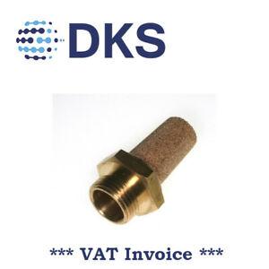 Réduction du bruit Vendeur Britannique 1//4 Bsp Pneumatique Laiton Silencieux pour valves