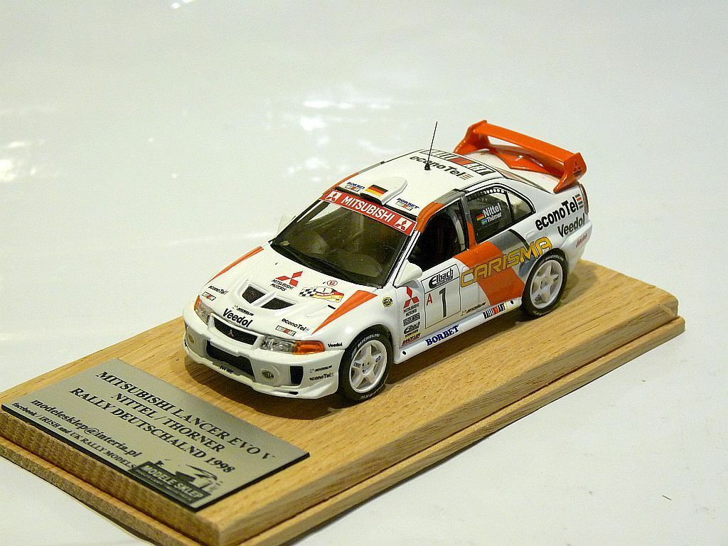 Uwe Nittel   Thorner Rally Deutschland 1998 Rally Tyskland Mitsubishi Lancer 5