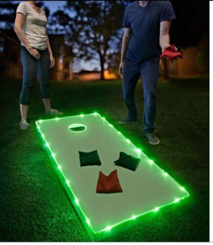 Green Brightz Cornhole Bean Bag Toss Lights Kit for Cornhole Boards