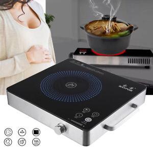 Details about 2200W 220V Kitchen Burner Portable Electric Cooktop Ceramic  Cooker Pot