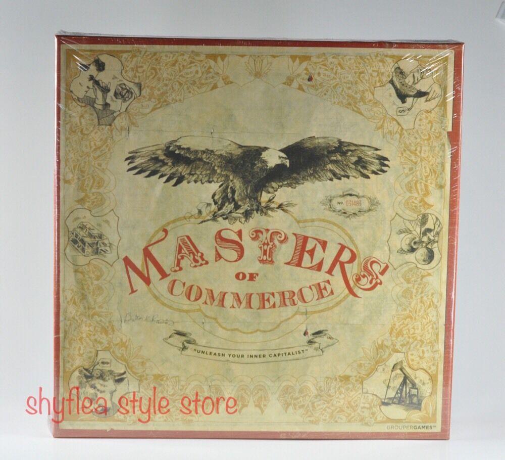 Masters of Commerce tavola gioco Grouper giocos Tycoon Family gioco  nuovo e Sealed  prezzo più economico