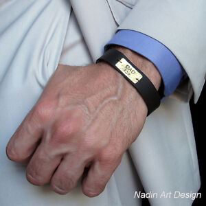 Image is loading Personalized-Dad-Bracelet-Fathers-Jewish-Gifts-for-Men-