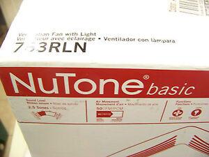 Nutone Ventilation Fan With Light 763rln 50 Cfm Exhaust Fan 784891256226 Ebay