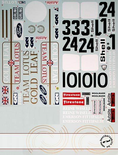 1 12 TRANS DECAL LOTUS 72C EARLY 72D for TAMIYA LOTUS 72D FITTIPALDI RINDT