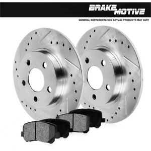 Fits-Rear-Drill-amp-Slot-Brake-Rotors-amp-Metallic-Pads-Mountaineer-Ford-Explorer