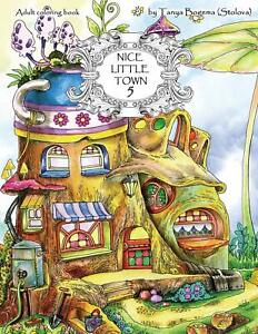 Nice-Little-Town-Adult-Coloring-Book-Stress-Relieving-Coloring-Pages