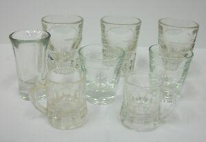 Vintage-Shot-Glasses-Estate-Lot-of-8-Assorted