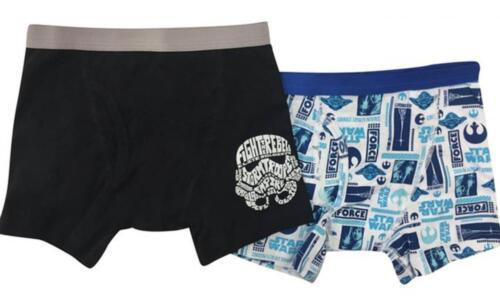 Star Wars Boys 2 Pack Assorted Color Boxer Briefs Size 4 6
