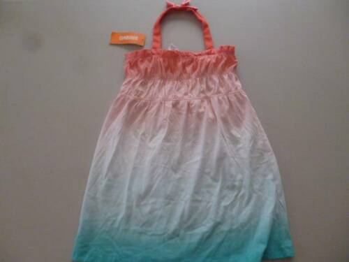 GYMBOREE Desert Dreams Halter Ombre Dip Dye Dress Coral White Aqua Size 4 5 NEW