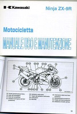 Amichevole Kawasaki Ninja Zx-9 R 2002 Manuale Uso Manutenzione Originale Italiano