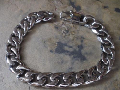 Herren Männer Edelstahl Panzer Armband 22 cm Farbe Silber 1584