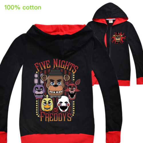 Five nights at Freddy Boys Spring and Autumn New Long Sleeve Zip Jacket