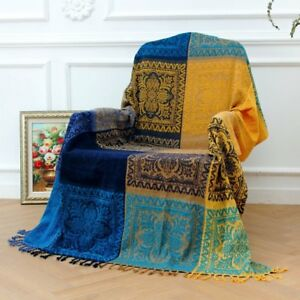 Image Is Loading 86 X 102inch Chenille Jacquard Tels Throw Blanket