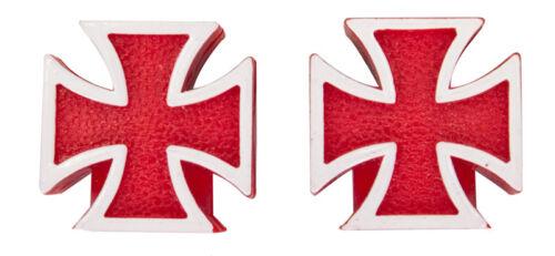 Trick Tops Valve Caps Iron-Cross Red