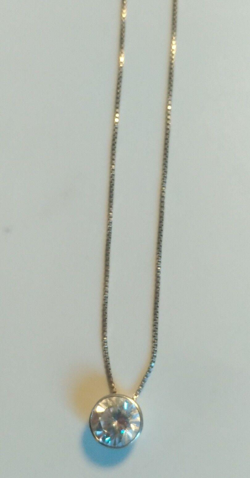 Collier en silver massif et zirconium