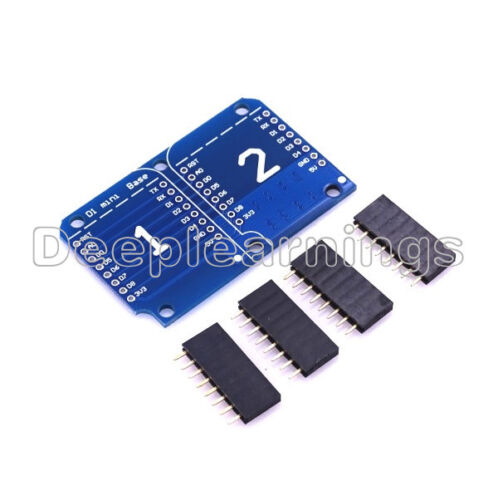 WEMOS D1 ESP8285 CH340 WIFI Board Double Socket Base Shield for Arduino ESP8266