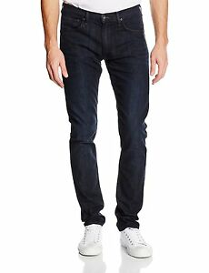 a885ffa3 Lee Luke Slim Tapered Denim Jeans New Mens Stretch Regular Rise Dark ...