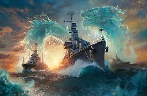 military-battleship-ship-boat-Oil-Painting-Printed-On-Canvas-Home-Art-Wall-Decor