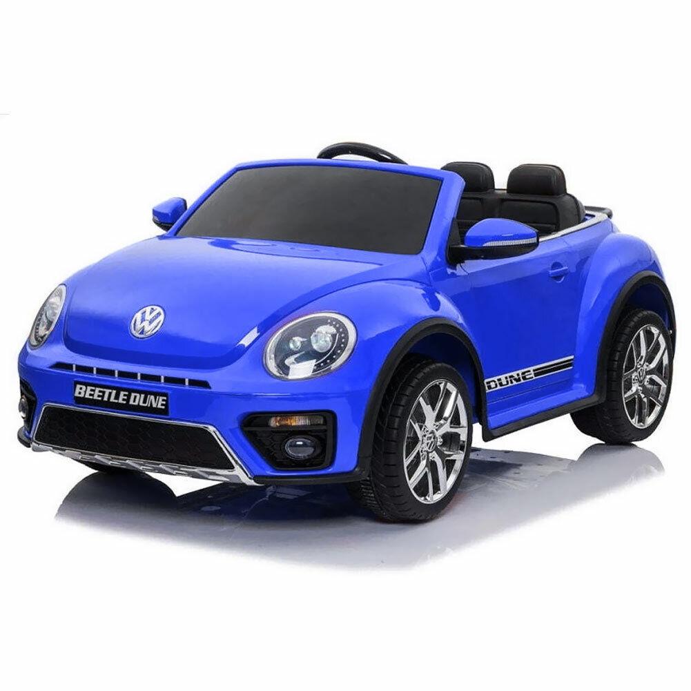 Auto Elettrica  Bambini Volkswagen Beetle Dune 12V MP3 USB Fari Telecouomodo Blu  il miglior servizio post-vendita
