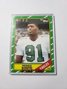 Details About 1986 Topps Reggie White Rookie Card Philadelphia Eagles 275 Mint 10