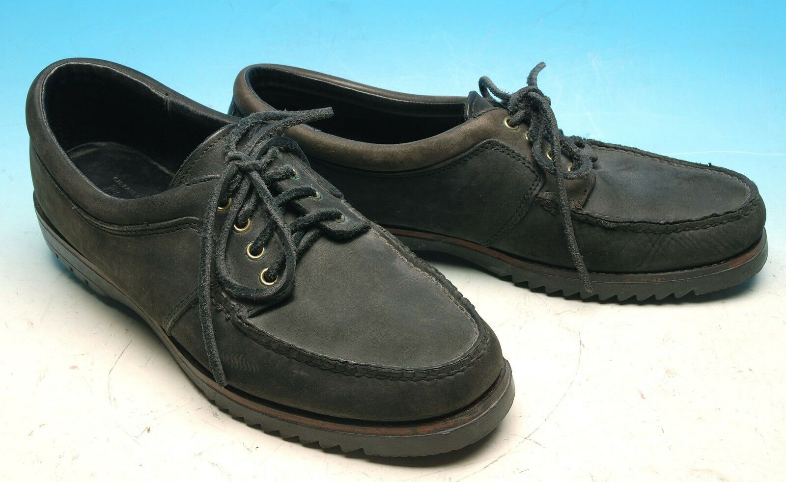 G H BASS & CO 1829 BLACK NUBUCK CASUAL SZ OXFORDS BOAT SHOES MENS SZ CASUAL 12 M GREAT 76bf1b