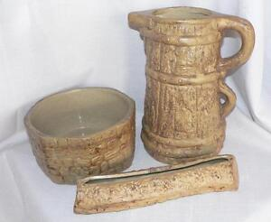 Vintage 3 hillstonia moira arts crafts pottery jug for Arts and crafts pottery makers