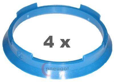 4 Pezzi Anelli Centraggio Plastica 70.4mm Su 64.1mm Blu Prezzo Moderato