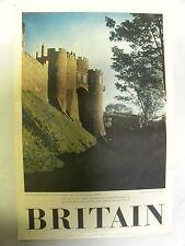 Vintage Britain England Dover Castle Travel Association Tourism Poster (A10)
