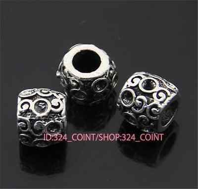 20pc Tibetan Silver Charm Flower String Spacer Beads accessories wholesale P941B