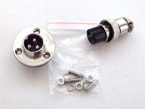 BBT Brand 12 volt 3 Pole 16mm Waterproof Electrical Outlet / Deck Plug Set