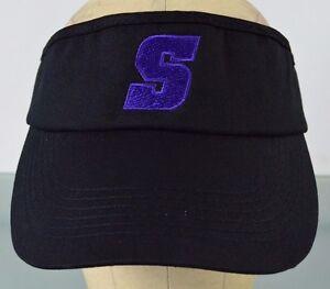 Purple S Initial Spartans Seahawks State South Sun Visor Hat Cap ... 36e5b27c540