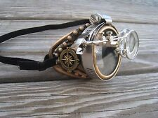 """Aviator Steampunk  Monocle """"R"""" with Key Necklace"""