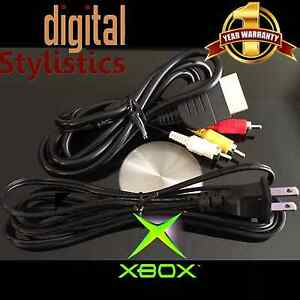 AV-Cable-amp-AC-Power-Cord-NEW-XBOX-Original-A-V-Audio-Video-Adapter-Supply
