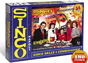 SINCO-GIOCO-DELLE-5-COMBINAZIONI-Nuova-Versione-con-180-Fiches-Segnapunti
